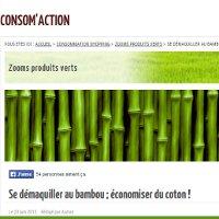 se démaquiller au bambou par Consoglobe