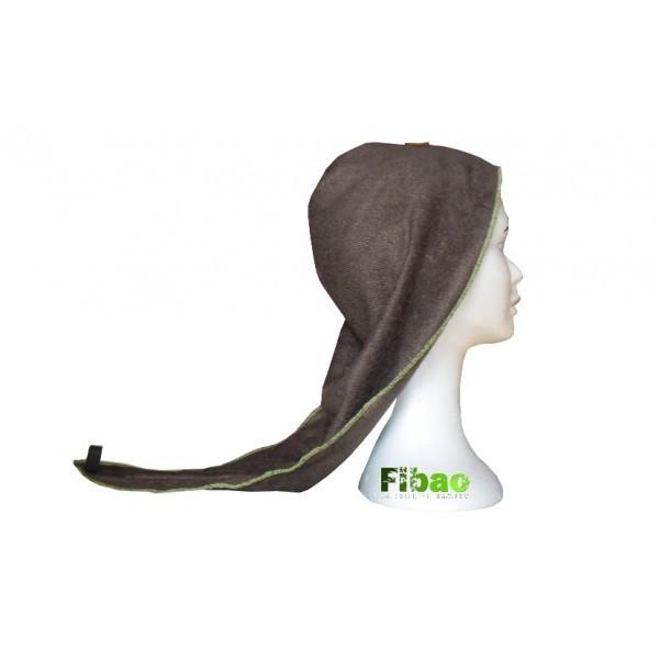 turban seche cheveux Fibao - chocolat