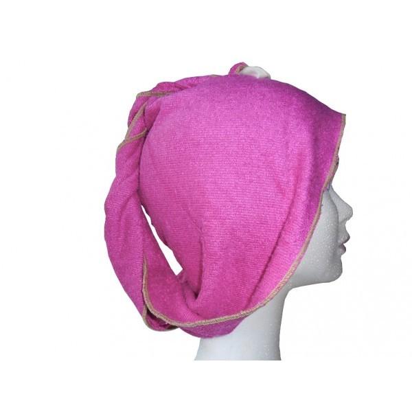 turban seche cheveux Fibao - fuchsia