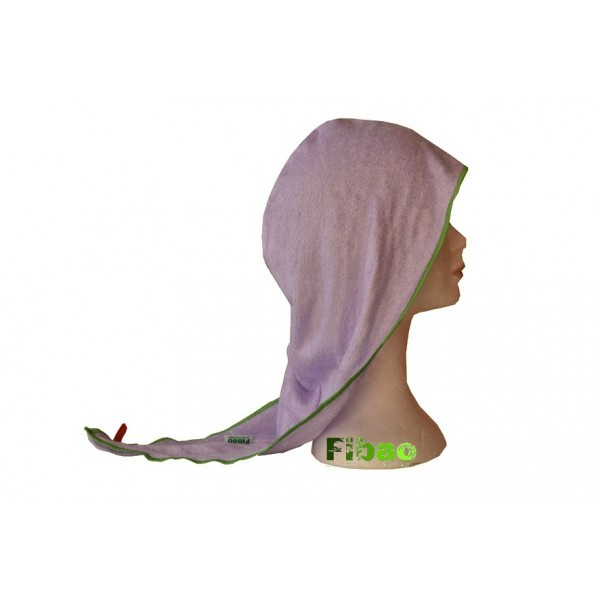 turban seche cheveux  Fibao - parme