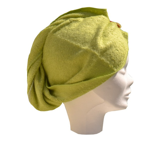 turban seche cheveux Fibao - vert pomme