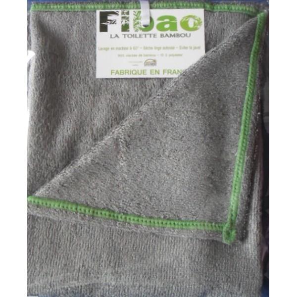 drap de bain bambou Fibao - gris