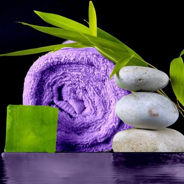 drap de bain bambou Fibao - parme