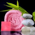 drap de bain bambou Fibao - rose