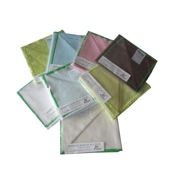 serviette de toilette bambou 29 cm x 29 cm