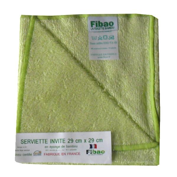 serviette visage bambou vert anis