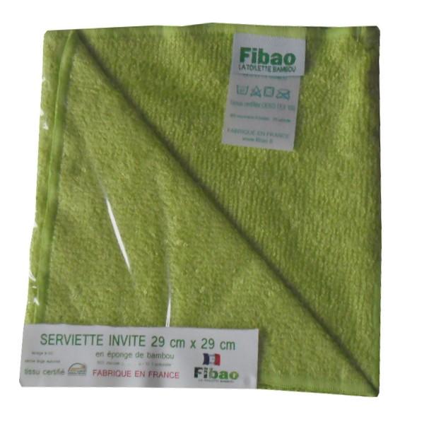 serviette visage bambou vert pomme